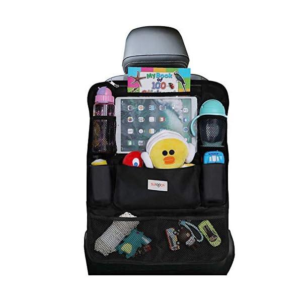 514 Ni9w4qL SURDOCA Autositz-Organizer – 4th Generation verbesserter Auto-Organizer Rücksitz für bis zu 10,5 iPad, 9 Taschen…
