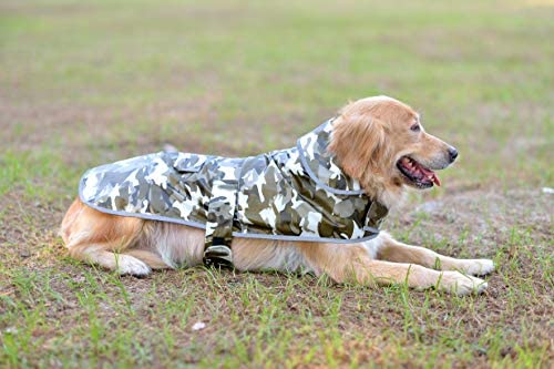 Comfortland Cozy Dog Cotton Padded Jacket Dog Winter Coat for Cat Cold Weather Coats for Dogs Fleece Warm Dog Vest for Pet Dog Clothes with Fur Collar for Small Medium Large Dogs,Grey