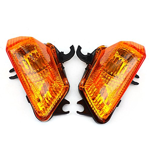 Front Turn Signals Blinker Light Lamp Indicator Cover Guard For KAWASAKI Z1000SX 2011-2014 Yellow: