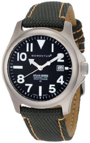 Momentum Men's 1M-SP00B14G Atlas Black Dial Green Snowboard Nylon Watch