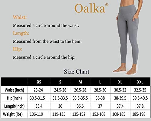 Oalka Women Yoga Pants Workout Running Leggings