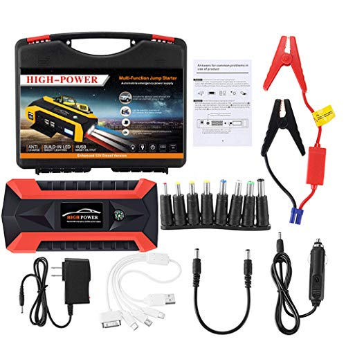 - Car Emergency Power Kits, Elevin(TM) 89800mAh 12V LCD 4 USB Car Jump Starter Pack Booster Charger Battery Power Bank