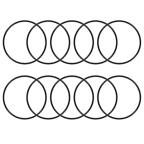 uxcell O-Rings Nitrile Rubber, 50mm Inner Diameter, 54mm OD, 2mm Width, Round Seal Gasket(Pack of 10)