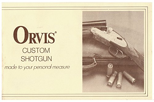 Orvis Custom Shotgun Made to Your Personal Measure 1973 brochure