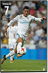 Cristiano Ronaldo 2017-18 Action 16' x 20 (Inches) Laminated Plaque Easy to H