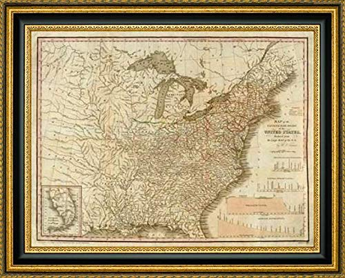 (A Connected View of The Whole Internal Navigation of The United States, 1830 by Henry Tanner - 37.25
