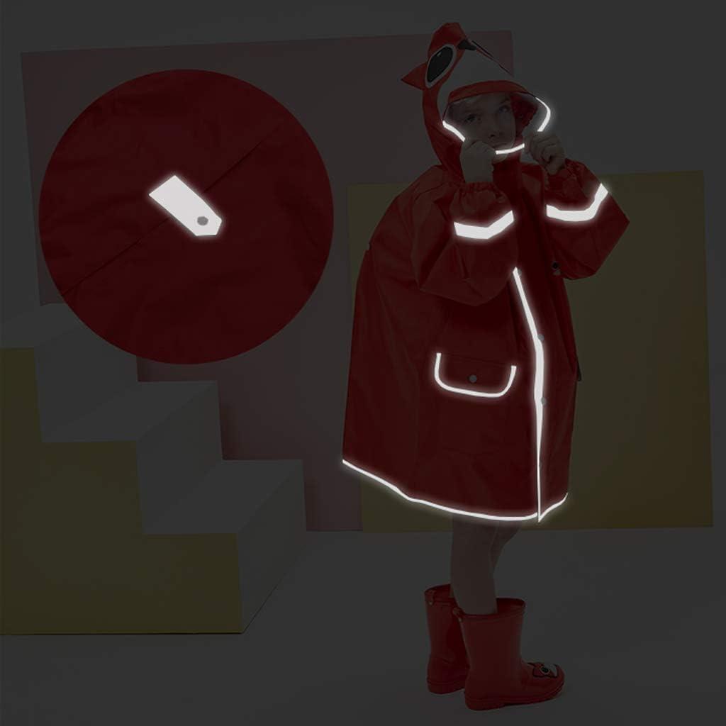 Giubbotto Impermeabile per Bambini con Cappuccio Cartoon 3D OldPAPA Impermeabile Poncho Motivo