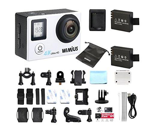 WIMIUS Q4 4K Action Camera WIFI Dual Screen Waterproof Sports Camera 16MP