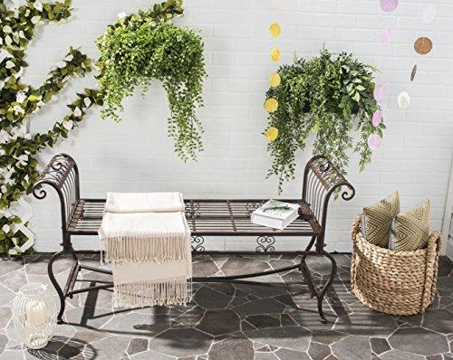 Safavieh Outdoor Collection Brielle Antique White Bench