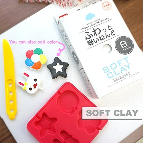 Daiso Japan Soft Clay White / Pink / Red / Blue / Yellow by Daiso Japan