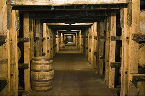 Media Storehouse 12x8 Print of USA, Kentucky, Loretto Maker s Mark Bourbon Distillery, Aging Bourbon in (8177055)