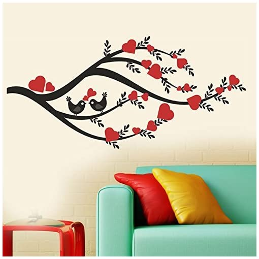 Decals Design 'Heart Leaves Branch' Wall Sticker