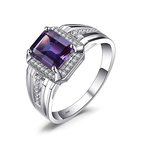 Jewelrypalace Luxury 4.6ct Created Alexandrite Sapphire Wedding and Engagement Ring For Men Genuine 925 Sterling Sliver Size 10
