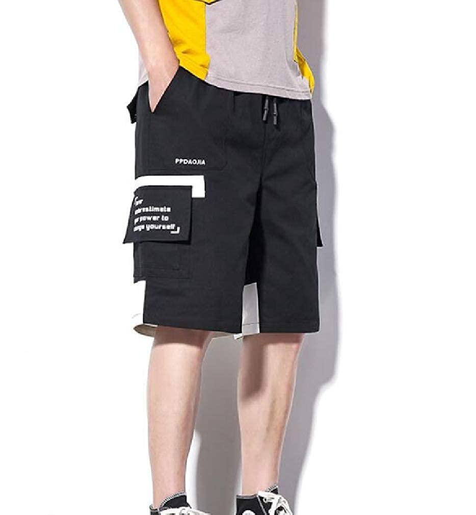 XiaoShop Mens Casual Loose Stylish Loose Fit Multi-Pockets Tactical Pants