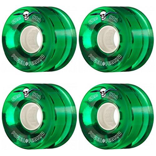 蜂即席洗練powell-peraltaクリアCruiserグリーン69 mm 80 aソフトスケートボードLongboard Wheels