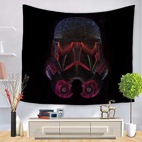 Hermoso tapiz Decoración de la pared con estampado de samurai negro de Star Tapestry Star Wars (Color: Negro, Tamaño: 150 *...