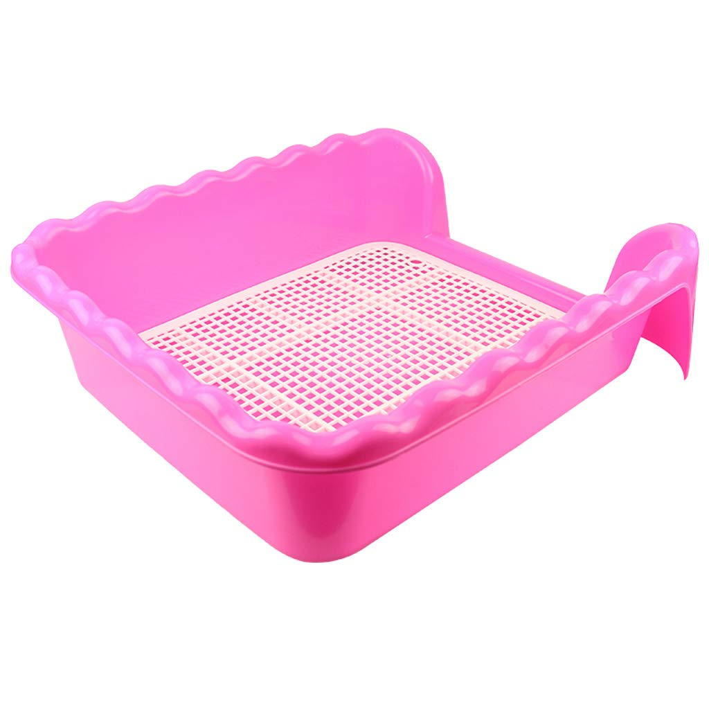 Large Babysbreath Indoor Dog Potty For Small large Dogs,puppy Potty Pad,Easy To Clean, Eco Friendly Pet Toilet (Pink)