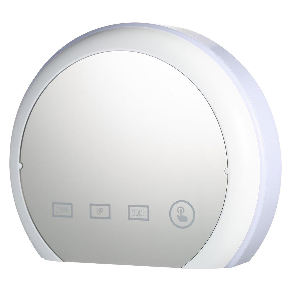 Amazon.com: elegantstunning LED Touch Screen Control 7 Colors Change Mirror Alarm Clock: Home & Kitchen