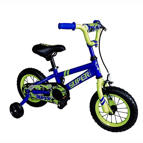 OTLIVE Kids Bike for Boys 16 inch BMX Street Dirt Children Bicycle with Training Wheels Blue (Boys Blue Bike)