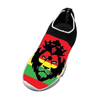 Rasta Lion 3D Printing Children's Slip-on Flyknit Outdoor Sport Shoes