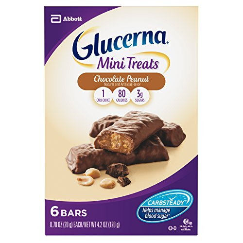 Glucerna Mini Treat Bars, To Help Manage Blood Sugar, Chocolate Peanut, 0.70 oz, 36 (May Help Treat)