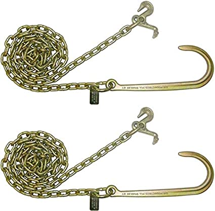One Pair BA Products N711-1 8 J Grade 70 Grab Hook Wrecker Tow Truck Chain