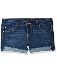 """Celebrity Pink Jeans Womens 3"""" Mid Rise Fray Cuff Denim Short"""