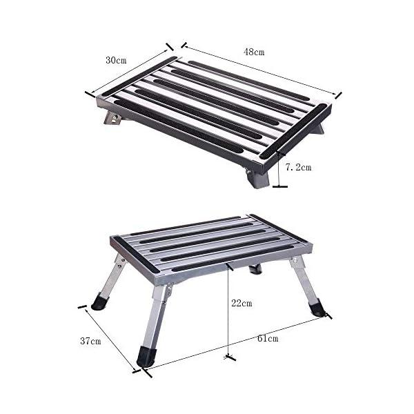 514 TV6tlAL Arbeitsbühne, Stufen der Aluminium-Klappplattform, tragbare RV-Aufwärtsbankleiter, rutschfestes Design, tragbare Leiter…