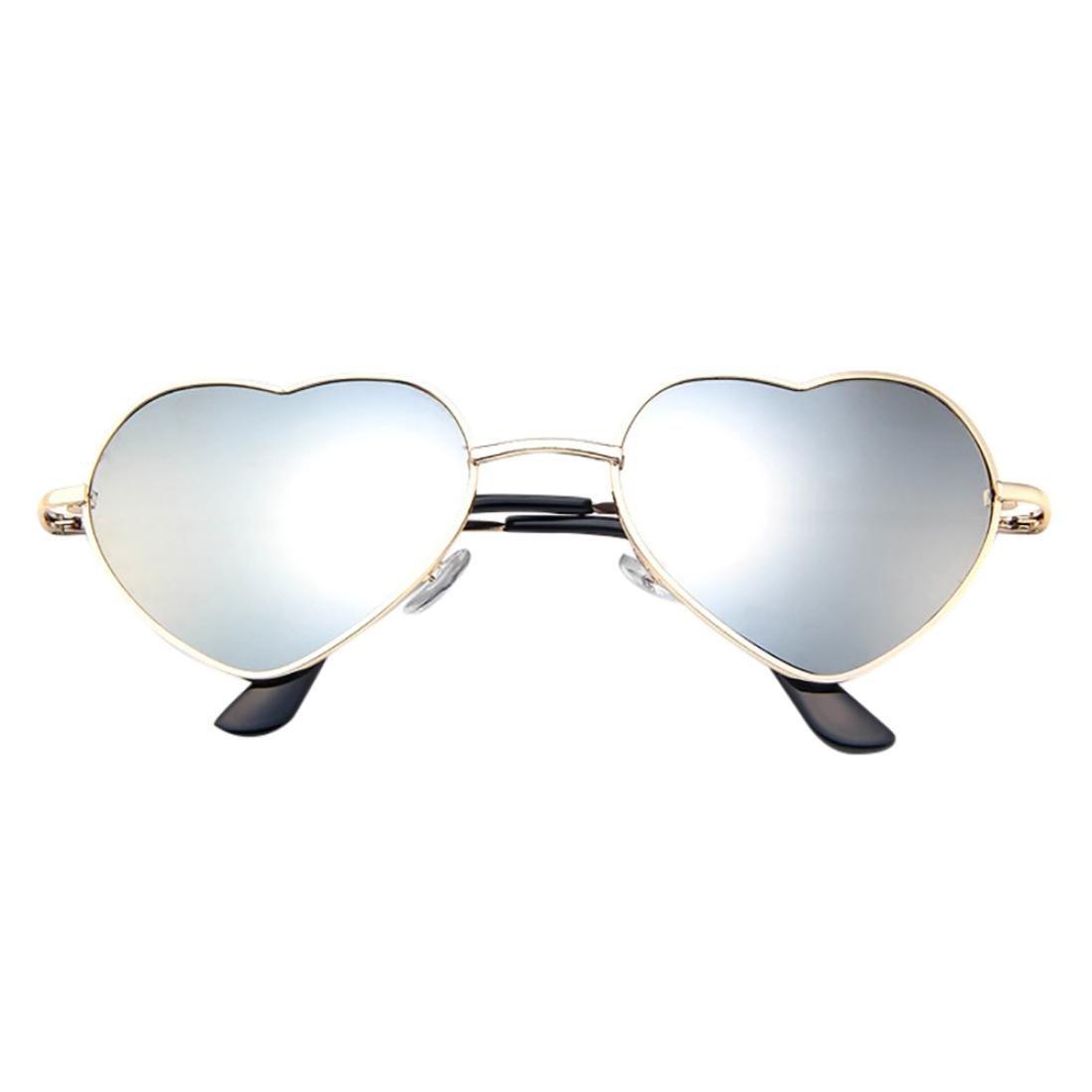 Brillen,Trada Mens Damen Metallrahmen Damen Herzform Sonnenbrille ...