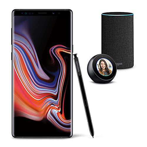 Samsung Galaxy Note 9 Unlocked Phone 512GB, Midnight Black with Echo Spot and Echo (2nd Generation) - Smart Speaker with Alexa