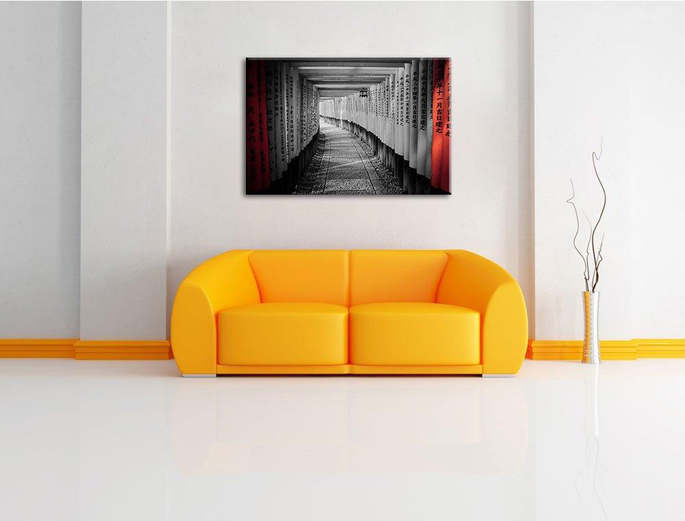 art impression sur murale avec cadre /énorme XXL Photos compl/ètement encadr/ée avec civi/ère moins cher que la peinture ou la peinture /à lhuile belle pri/ère marcher Japon noir // blanc Taille: 60x40 sur toile aucu