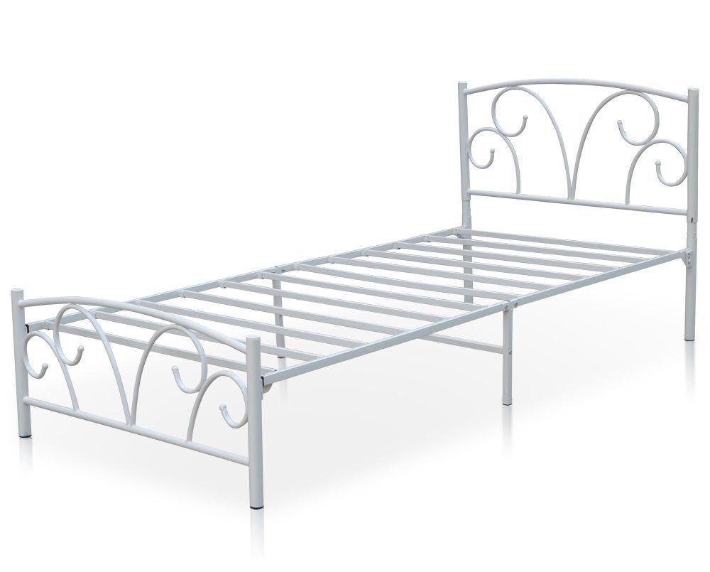 Wrought iron single bed - Tinkertonk 3ft Economy Solid Single Metal Bed Frame 197cmx95cm White Amazon Co Uk Kitchen Home