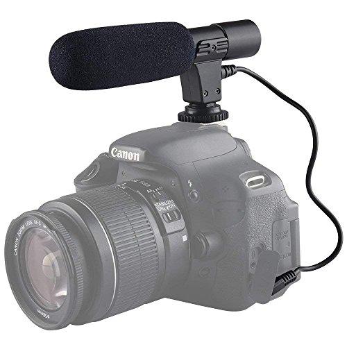 - YUOCU Professional Mic-01 3.5mm Digital Video DV Camera Studio Stereo Shotgun Recording MIC Microphone Compatible for Canon Nikon Pentax Olympus Panasonic DSLR Cameras,Camcorder,Smartphone Video Rig