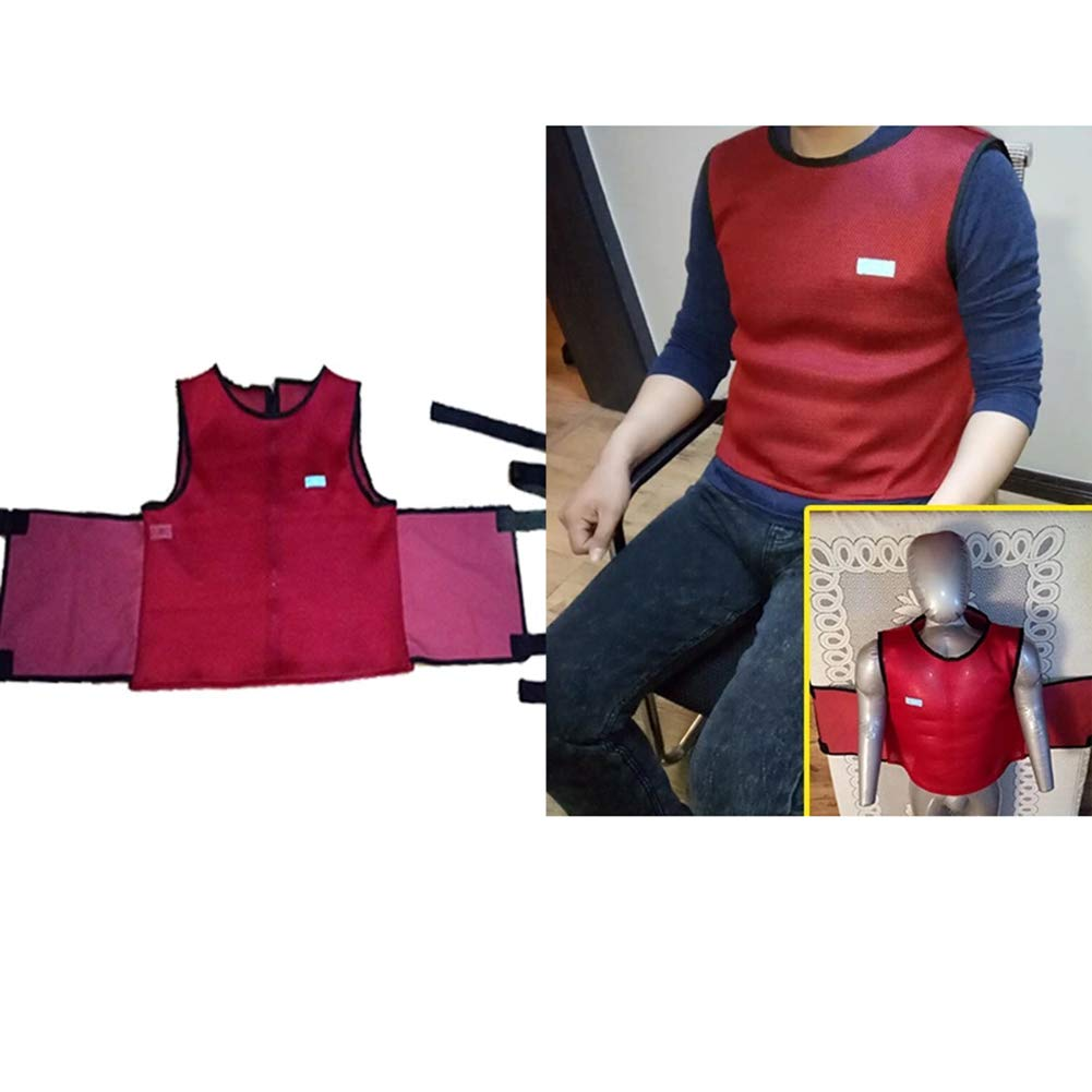 Patients Criss Cross Chest Vest Restraint,Breathable Safety Horse Clamp for Use with Bed or Chair,L
