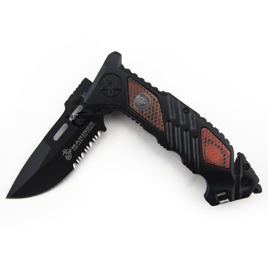Marines Iron Mike Folding Knife (5.25-Inch Closed) by Marines (Image #5)