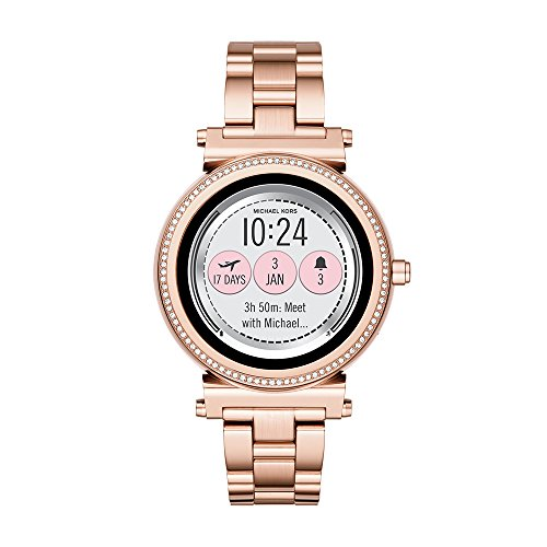 Michael Kors Access, Women's Smartwatch, Sofie Rose Gold-Tone Stainless Steel,...