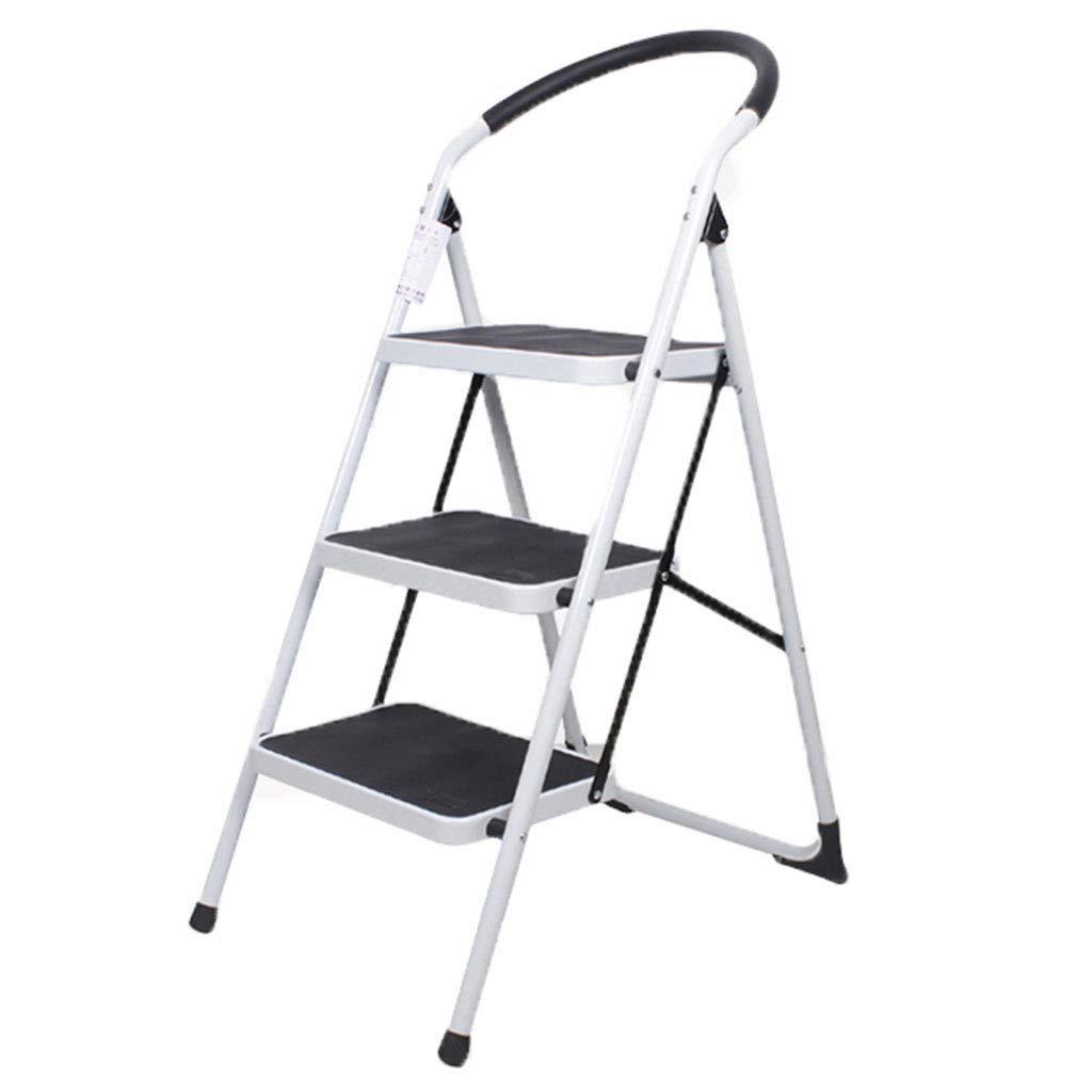 Household up to 150 kg NAWA Lightweight Folding Aluminium 2 Step Ladder European Standard EN 131