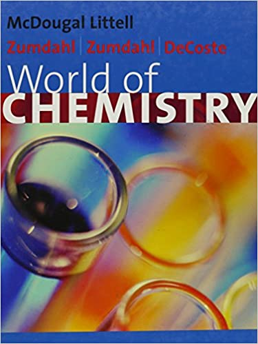 Amazon com: World of Chemistry (0046442134965): Zumdahl: Books