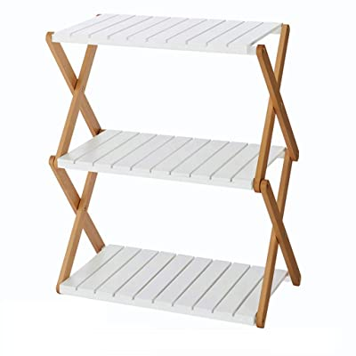 Patio Furniture-CSQ Floor-Standing Flower Stand, Plant Stand Shelf Solid Wood Living Room Bedroom Balcony Multifunction Foldable White Plant Container Accessories (Size : 58.53272cm): Garden & Outdoor
