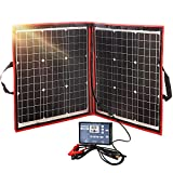 DOKIO 80w Solar Panel Kit Mono Portable Flexible Folding Include Solar Charge Controller and PV Cable for 12v Battery Charging Camper Van