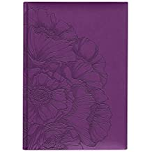 Pierre Belvedere Parfum Collection Large Hardcover Notebook with Padded Embossed Cover, Purple (7706250)