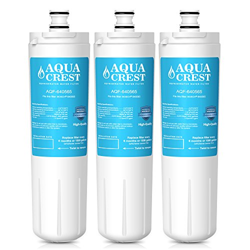 AQUACREST 640565 Refrigerator Water Filter Replacement Bosch 640565 EVOLFLTR10 AP3961137, Whirlpool WHKF-R-PLUS (Pack of 3)