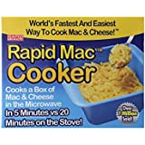 Rapid Mac Cooker - Microwave Boxed Macaroni and Cheese in 5 Minutes - BPA Free and Dishwasher Safe