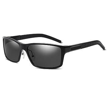 HTRPF Gafas de Sol polarizadas para Hombres Protección UV400 Aplicar a Actividades al Aire Libre como Conducir, Turismo y Playa, C