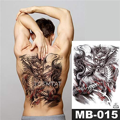 Zhuhuimin 3pcs Completas Pegatinas Tatuaje Posterior ...