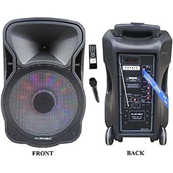 Amazon Com 12 Quot Portable 1200w Speaker Pa System Wireless