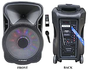 12 portable 1200w speaker pa system wireless for A b mackie salon