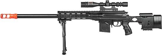 UKARMS Top Marksman Sniper Spring Airsoft Rifle Gun FPS 225 w/Bipod