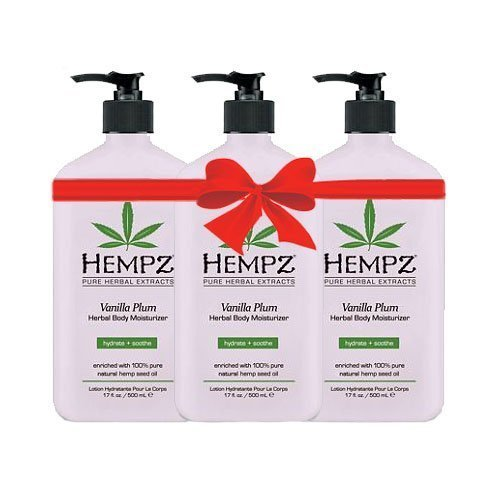 Hempz Vanilla Plum Herbal Body Moisturizer 17 fl oz