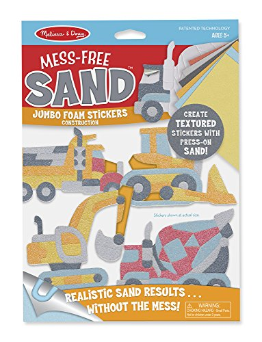 Melissa & Doug  Construction Mess-Free Sand Jumbo Foam Stickers